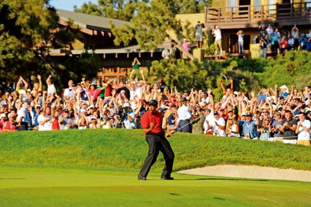 2012年 WORLD タイガー・ウッズ 2008年の全米オープン。タイガー・ウッズが見せたミラクルパットも不可思議な現象のひとつだった。(J.D.Cuban/GW)