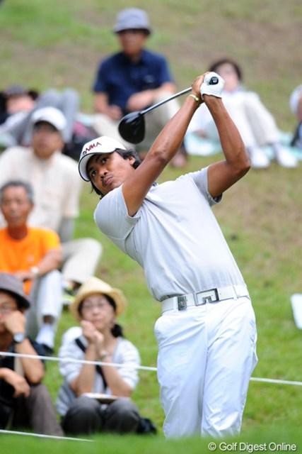 2012年 アジアパシフィックオープンゴルフチャンピオンシップ パナソニックオープン 2日目 ジュビック・パグンサン 昨年のアジアンツアー賞金王が首位と1打差の2位タイに浮上してきた