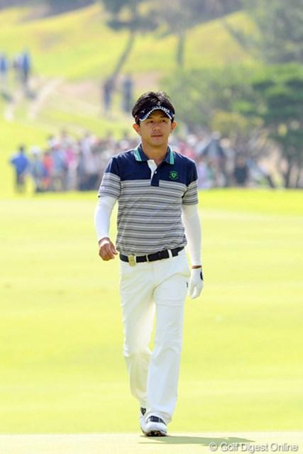 2012年 アジアパシフィックオープンゴルフチャンピオンシップ パナソニックオープン 最終日 近藤共弘 4バーディを奪いながらも1ダボ、2ボギーと、思うようにスコアを伸ばせんかったけど、しぶとく4位タイに食い込みました。