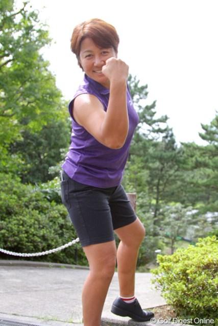 著名人の優勝予想/第4回 日本女子オープンゴルフ選手権 藤井かすみ 今週はテレビの仕事で登場した藤井かすみプロ。気合いをこめて予想した優勝者は誰?