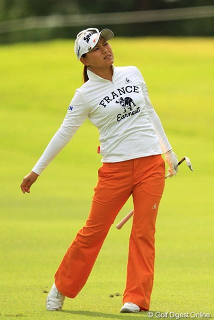 2012年 日本女子オープンゴルフ選手権競技  初日 横峯さくら スイング修正中の状態でメジャーセッティングは厳しいか。70位タイと出遅れた横峯さくら