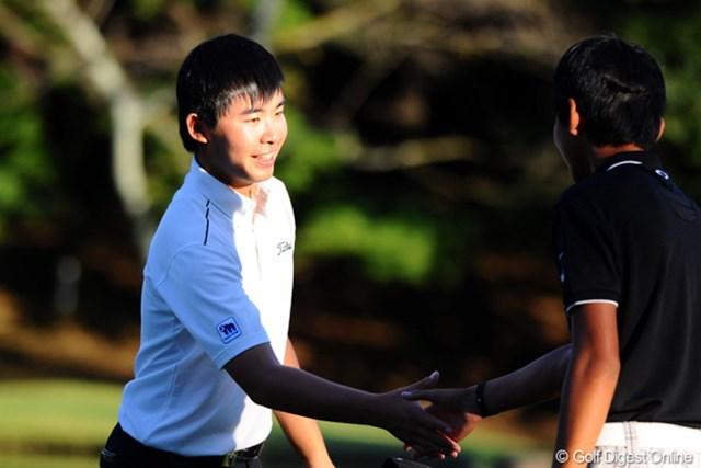 2012年 コカ・コーラ東海クラシック 2日目 川村昌弘 最終ホールをボギーとしたものの首位タイで決勝ラウンドに進んだルーキーの川村昌弘