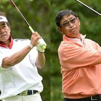 4アンダーの「68」をマークして首位に立った佐藤とデビッド、2日間の短期決戦を制するのは・・・(※画像提供:PGA) 2012年 ISPS ハンダカップ秋晴れシニアマスターズ 初日 佐藤剛平、デビッド・イシイ