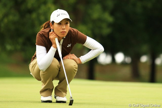 2012年 日本女子オープンゴルフ選手権競技 2日目 若林舞衣子 このコンディションの中で、イーブンパーのラウンドは凄いです!6位タイ。