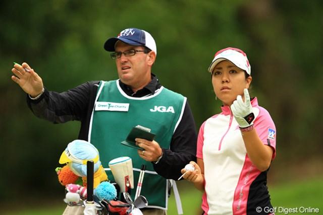 2012年 日本女子オープンゴルフ選手権競技 2日目 宮里美香 目まぐるしく変わる風向きに、「あっちから?こっちから?」