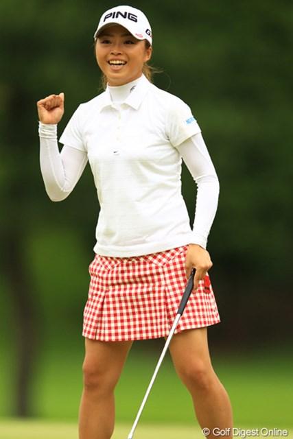 2012年 日本女子オープンゴルフ選手権競技 2日目 一ノ瀬優希 一ノ瀬さんのガッツポーズも本当に嬉しそうで絵になりますなぁ。