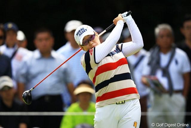 2012年 日本女子オープンゴルフ選手権競技 2日目 申智愛 申ちゃんも今日は何とか耐えて、ギリギリ予選通過。