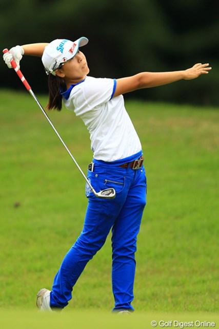 2012年 日本女子オープンゴルフ選手権競技 2日目 勝みなみ 惜しかったなぁ。一打足りず予選落ちでした。もし予選通過できてれば、最年少予選通過記録を塗り替えられたんですけどねぇ。