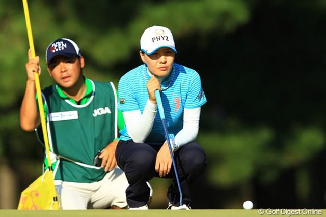 昨日までの安定感のあるゴルフはどこへやら。9位タイへ後退です。