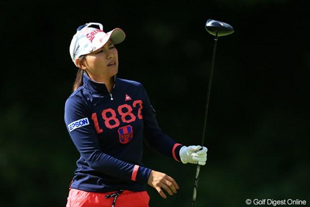 2012年 日本女子オープンゴルフ選手権競技 最終日 横峯さくら ショットの調子は日替わりの状態が続いている横峯さくら。24位タイで4日間を終えた