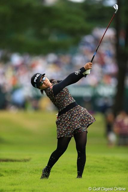 ボギー先行で、今日は彩子ちゃんらしい粘りのゴルフが出来ませんでしたねぇ。