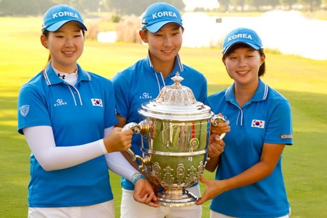 3日目までの大量リードを守りきり世界一に輝いた韓国チーム(Copyright  USGA/Steve Gibbons)