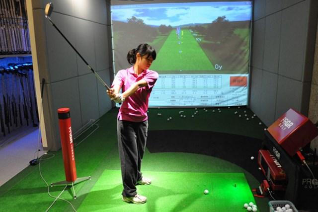 ゴルフ部員Kさん レッスン2