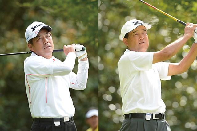 首位に並ぶ4アンダーと好スタートを切った福沢孝秋(左)と井上久雄 ※画像提供:日本プロゴルフ協会