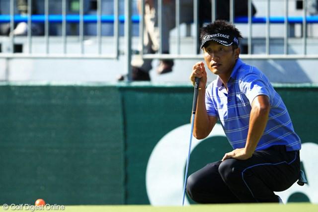 2012年 キヤノンオープン 初日 宮本勝昌 我慢のゴルフを展開し、前週に引き続き好スタートの宮本勝昌