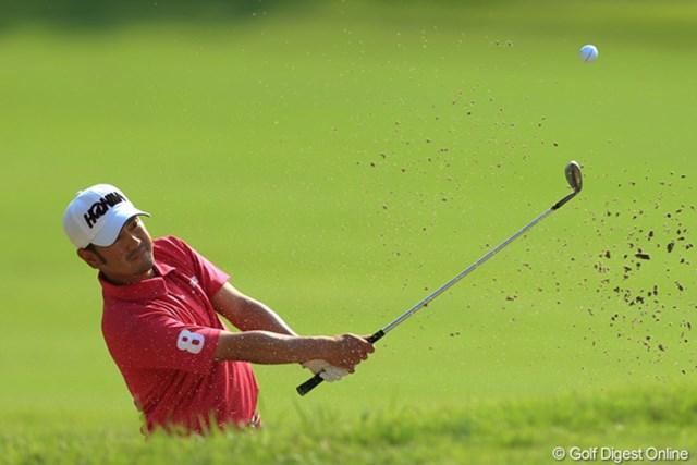 2012年 キヤノンオープン 2日目 上平栄道 5月の「日本ゴルフツアー選手権」で優勝争い。そしてシーズン中盤戦も好調なプレーを見せている上平栄道。