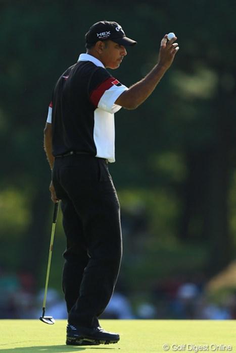 6位タイへ後退しましたが、爆発力あるジーブはまだまだ怖い存在です。 2012年 キヤノンオープン 2日目 ジーブ・ミルカ・シン