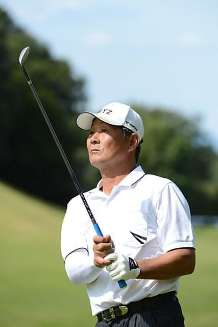 通算5アンダー単独2位に浮上してきた飯合肇 ※画像提供:日本プロゴルフ協会