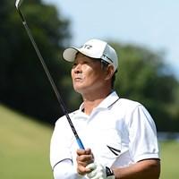 通算5アンダー単独2位に浮上してきた飯合肇 ※画像提供:日本プロゴルフ協会 2012年 日本プロゴルフシニア選手権大会  2日目 飯合肇