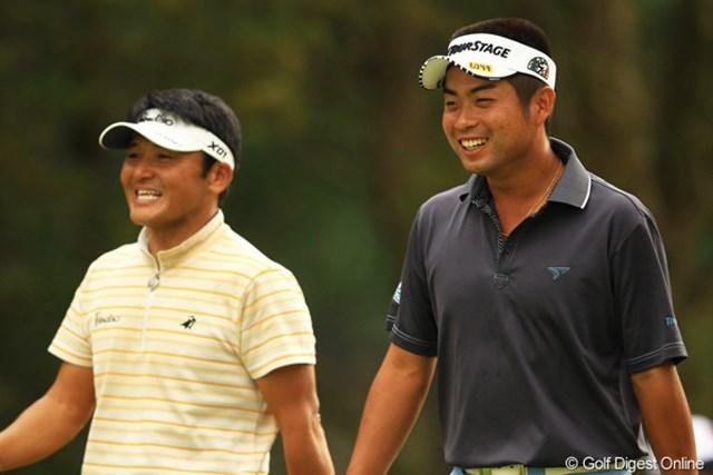 2012年 キヤノンオープン 3日目 池田勇太&丸山茂樹 丸山さんの事を「大将!大将!」と呼ぶ若大将です。本当に楽しそうな2人でしたよ。