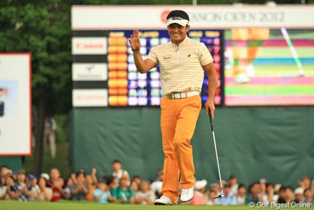 2012年 キヤノンオープン 3日目 丸山茂樹 明日に繋がる最終18番でバーディゲット!明日もこの笑顔、見たいです!