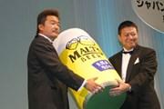 2003年度ジャパンゴルフツアー イーグル率賞 立山光広(左)