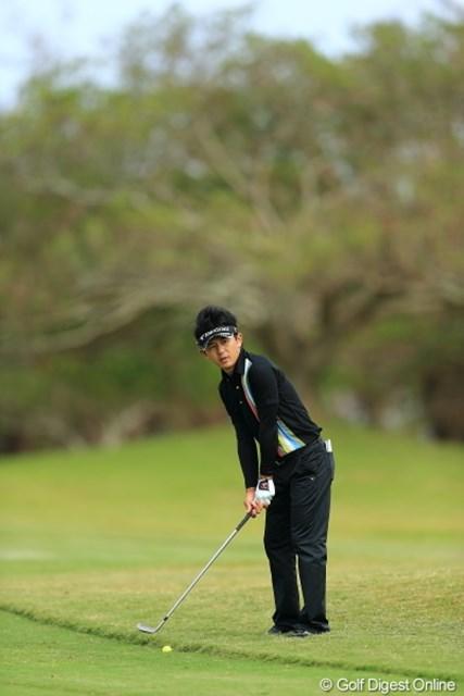 2012年 日本オープンゴルフ選手権競技 事前 近藤共弘 このボール、5センチずれただけで雲泥の差。
