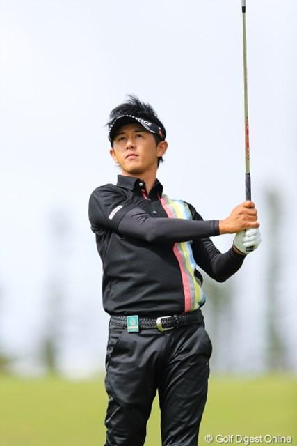 2012年 日本オープンゴルフ選手権競技 事前 近藤共弘 風がハンパじゃなく、ヘアーが乱れるから明日はキャップにするって。