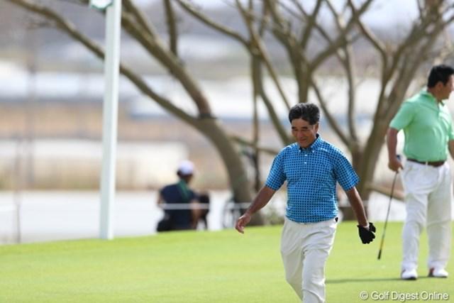 """2012年 日本オープンゴルフ選手権競技 事前 友利勝良 """"沖縄""""""""風""""""""プロ""""といえば、やっぱりこの人をイメージするね。"""