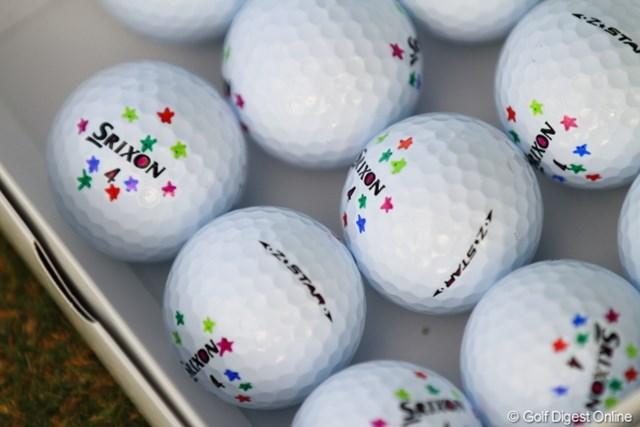 2012年 日本オープンゴルフ選手権競技 事前 ボール これ、上井プロがダメ出ししたボール達。