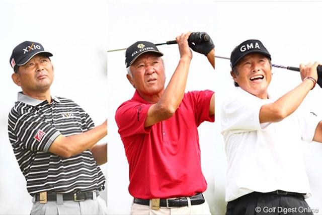 青木功、尾崎将司、中嶋常幸、いわるゆAONの3選手。スコア以上に引き込まれる雰囲気を持っています。