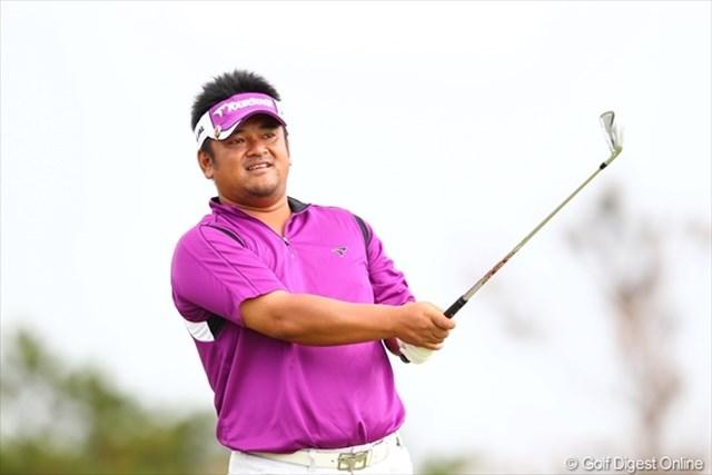 2日目、11番(パー4)でイーグル奪取!このコースで開催されたアジア・ジャパン沖縄オープン優勝の宮里聖志