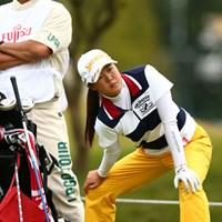 埼玉栄高校2年生、ハーフターンで準備運動、9歳からゴルフはじめたらしいですよ 2012年 富士通レディース 初日 保坂真由