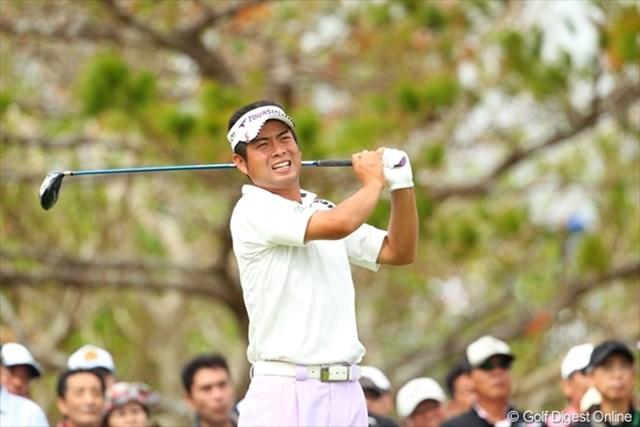 9番のダブルボギーを10番のイーグルで取り返した池田勇太。現在9オーバーでプレー中