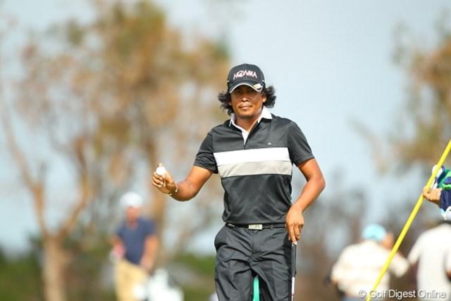2012年 日本オープンゴルフ選手権競技 最終日 ジュビック・パグンサン 途中までしぶとかったのになぁ。ハリマオ…じゃなくてパグンサン。