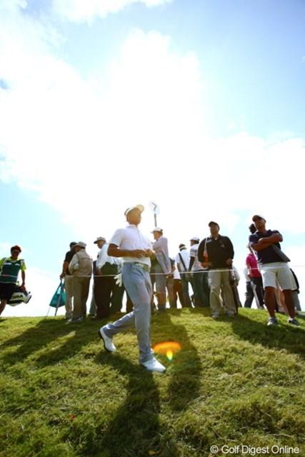 2012年 日本オープンゴルフ選手権競技 最終日 久保谷健一 優勝を予期するかのように光につつまれていた。