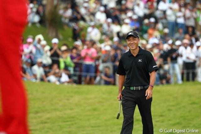 2012年 日本オープンゴルフ選手権競技 最終日 佐藤信人 いきなりチップインバーディーからの好スタート。
