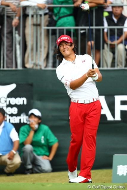 2012年 日本オープンゴルフ選手権競技 最終日 石川遼 髪きったほうがカッコイイよ。