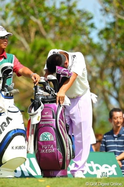 2012年 日本オープンゴルフ選手権競技 最終日 池田勇太 熱があったらしく終始つらそうだった。