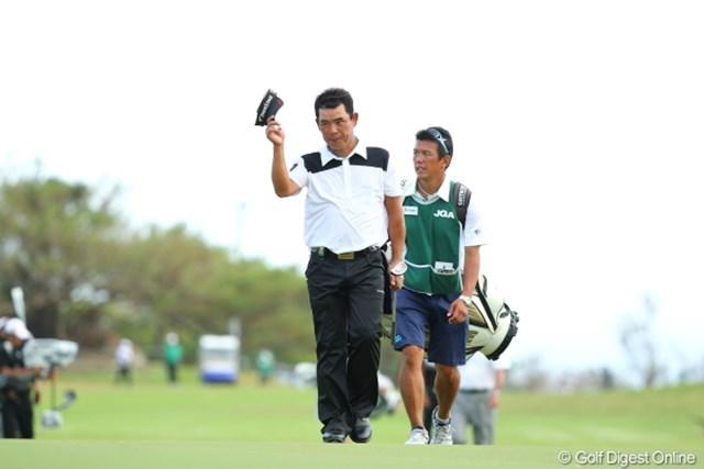 2012年 日本オープンゴルフ選手権競技 最終日 平塚哲二 来年こそトップのまま18番グリーンに上がってね。