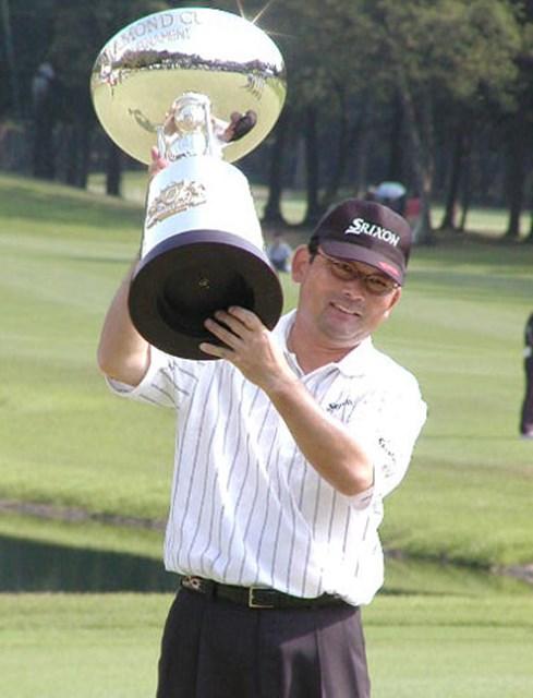 2002年 ダイヤモンドカップトーナメント 最終日 中嶋常幸 7年ぶりの賜杯を手にした中嶋