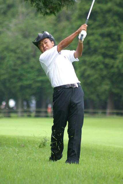 2002年 サントリーオープンゴルフトーナメント 3日目 片山晋呉 2年連続優勝を狙う片山晋呉