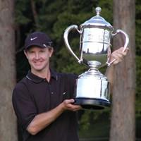 念願の日本ツアー初優勝を果たしたS.レイコック 2002年 ブリジストンオープンゴルフトーナメント 最終日 スコット・レイコック