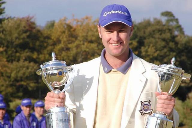 2002年 フィリップモリスチャンピオンシップ 最終日 ブレンダン・ジョーンズ 日本ツアー初優勝のB.ジョーンズ