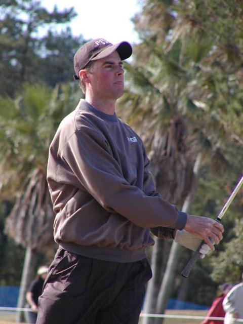 2002年 カシオワールドオープンゴルフトーナメント 最終日 デビッド・スメイル ショットの安定度は抜群。最終日に64をマークした。