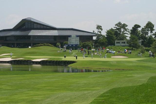 2002年 日本ゴルフツアー選手権イーヤマカップ 初日 9番ホールグリーン
