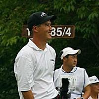 D.ウィルソン、1番ティショット直後 2002年 日本ゴルフツアー選手権イーヤマカップ 3日目 ディーン・ウィルソン