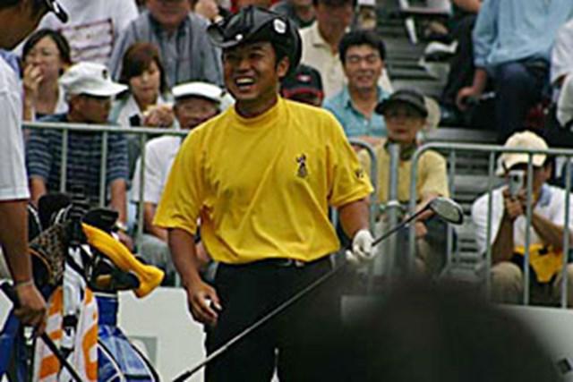 2002年 日本ゴルフツアー選手権イーヤマカップ 3日目 片山晋呉 片山晋呉スタート直前