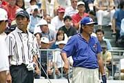 2002年 日本ゴルフツアー選手権イーヤマカップ 3日目 左)久保谷健一、右)尾崎将司