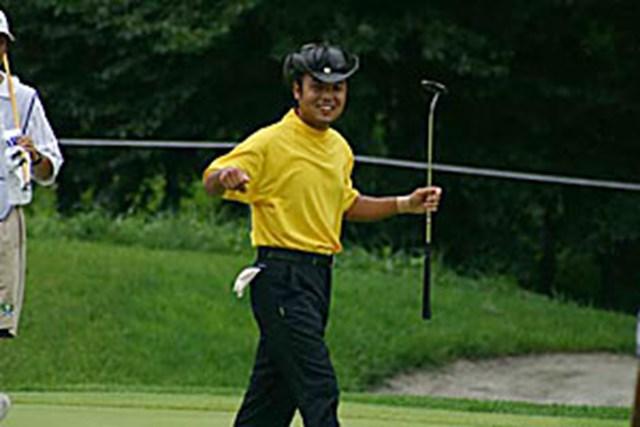 2002年 日本ゴルフツアー選手権イーヤマカップ 3日目 片山晋呉 片山晋呉8番でバーディ